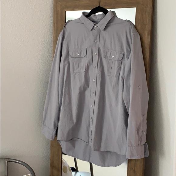Men's Apartment 9 grey dress shirt